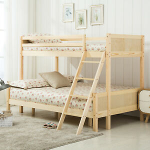 Triple Sleeper Pine Wood Bunk Bed Frame 3ft Single 4ft Small Double
