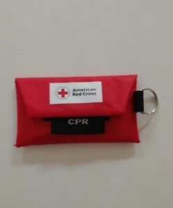 American Red Cross Mini CPR Keychain + Gloves Mask / Face Shield Kit
