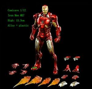 Comicave-1-12-Iron-Man-MK7-Figure-Action-Model-Diecast-Michael-Toy-Original-Gift