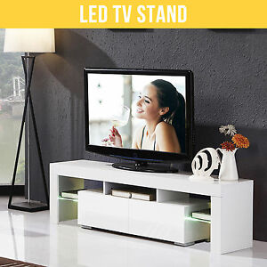 Modern-160cm-TV-Stand-Unit-Cabinet-White-Matt-High-Gloss-With-FREE-LED-RGB