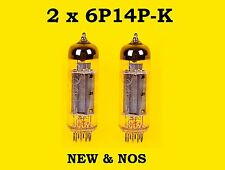 2 x 6P14P-K = EL84 = 6BQ5 || NEW & NOS || Matched Pair on L3-3 tube tester ||
