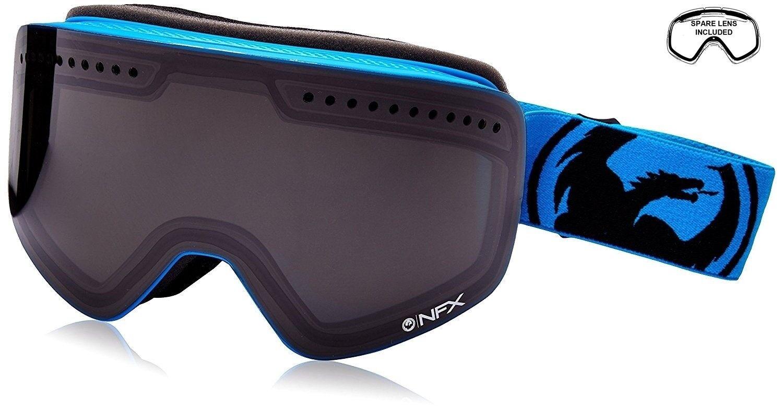 NEW Dragon NFX bluee Smoke Mens Large Ski Snowboard Goggles + Lens Ret