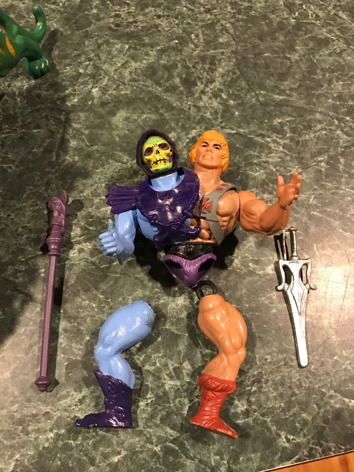 Customized He-Man & Skeletor Two Bad Figure & Battle Cat / Panthor PLEASE READ