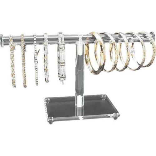 """Clear Acrylic Round T-Bar Bracelet Jewelry Display 10/"""" x 4 7//8/"""""""