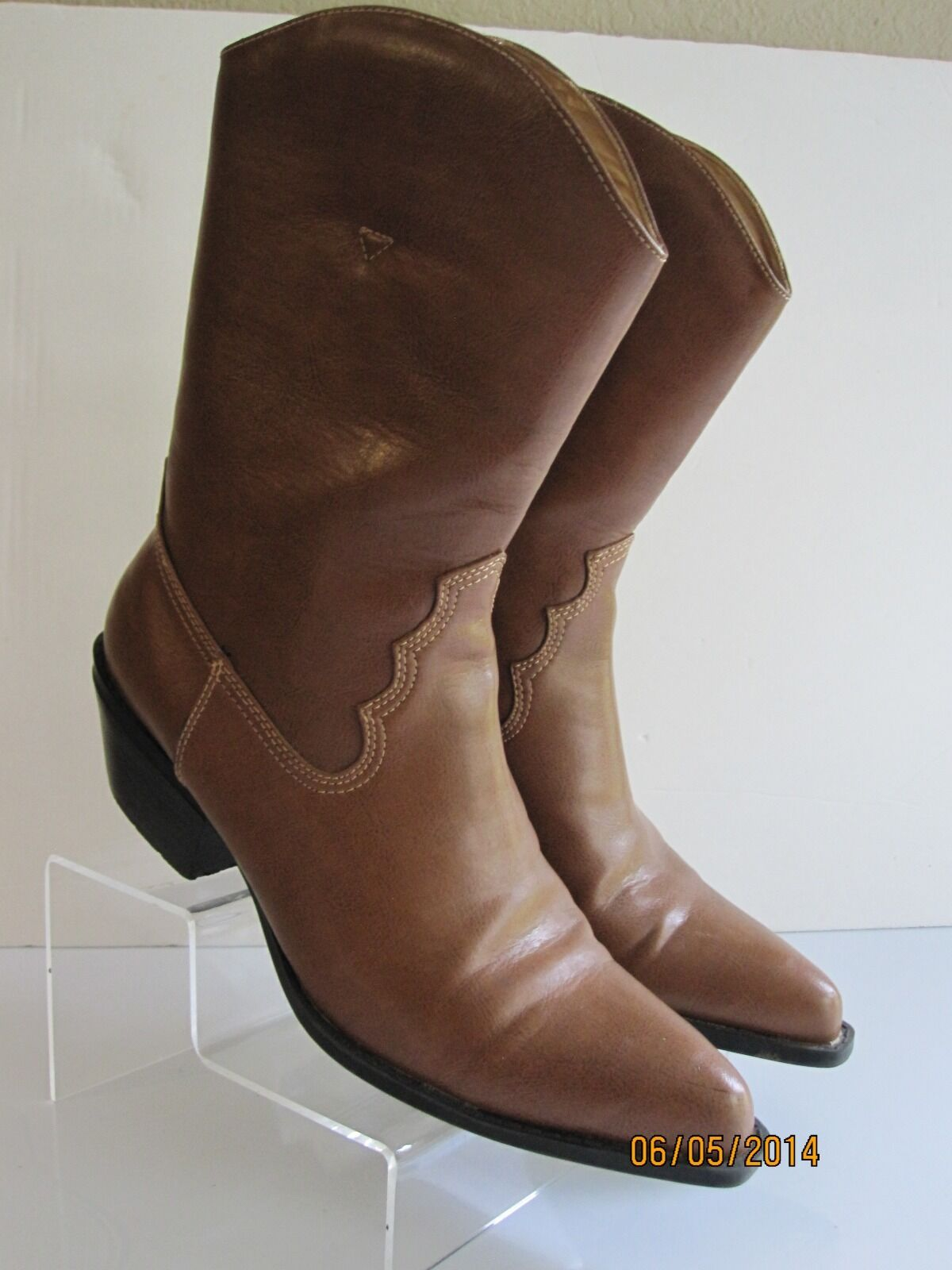 CITY SNAPPER WOMENS TAN BROWN  DRESS FASHION- ANKLE BOOTS SIZE 9 M