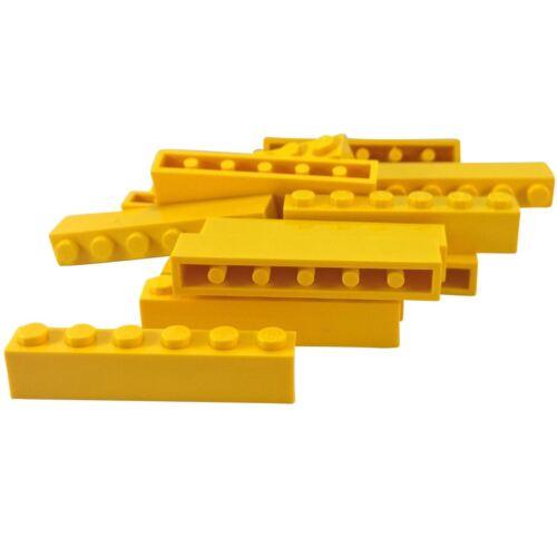 15 NEW LEGO Brick 1 x 6 Yellow