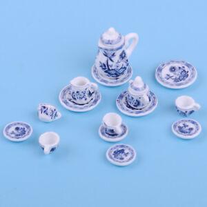 Porzellan-Tee-Set-1-12-Puppenhaus-Teeservice-Teegeschirr-Miniatur-Puppenstube