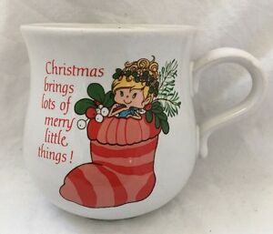Vintage-1984-American-Greetings-HERSELF-THE-ELF-Stoneware-CHRISTMAS-MUG-2