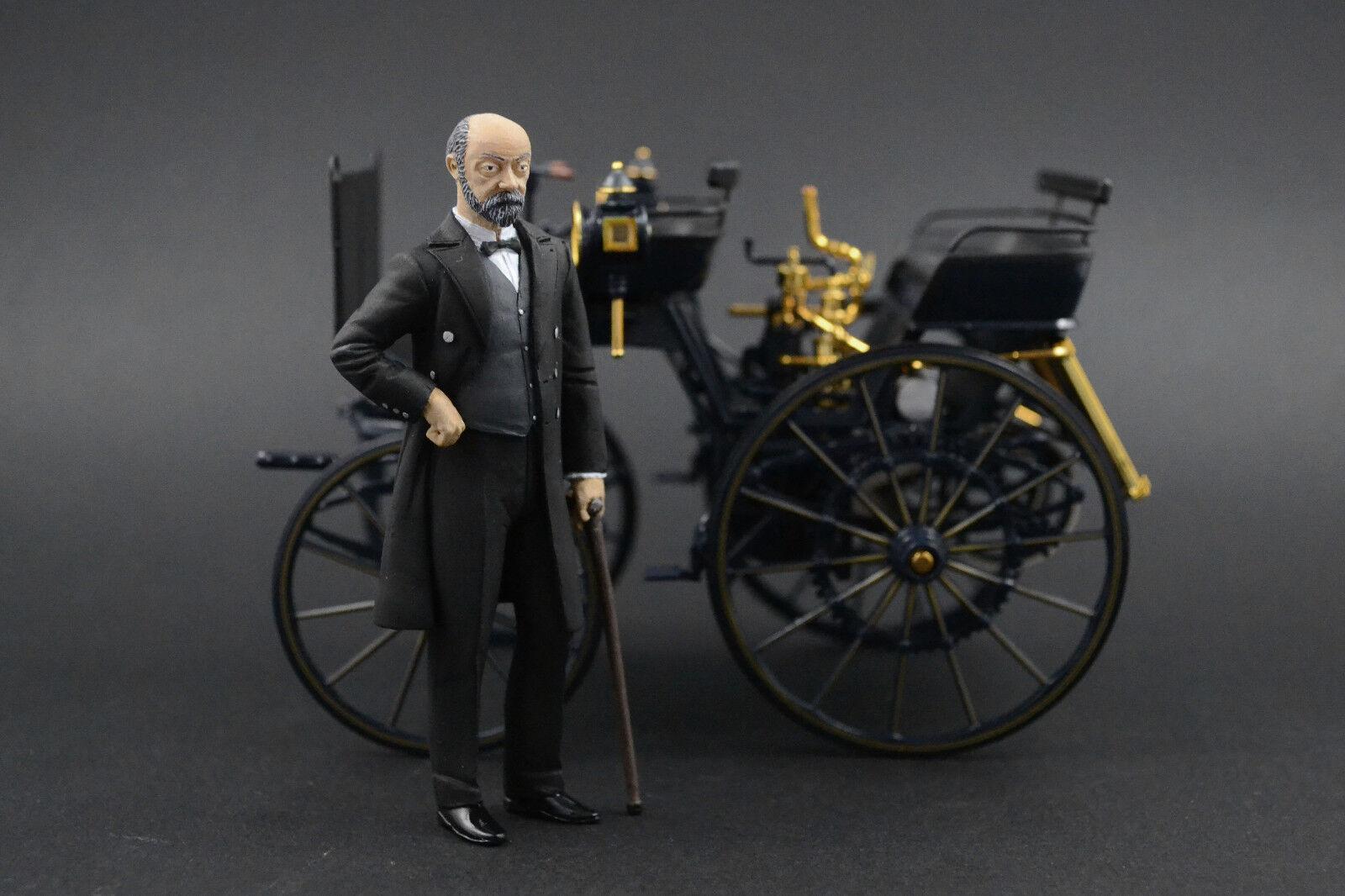 Gottlieb Daimler figura per 1:18 CMC MERCEDES MOTORKUTSCHE MOLTO RARA
