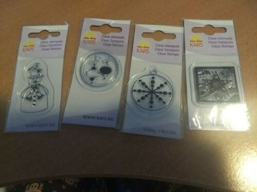 D 4X MINI CLEAR STAMPS FROM KARS 4X4 CM NEW