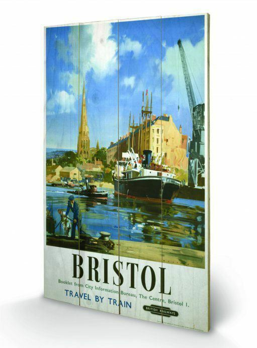 Bristol Travel British Railways Wooden Wand Kunst Officially Licensed