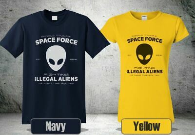 Donald Trump Space Force T-Shirt Fighting Aliens Around The Galaxy Funny Shirts