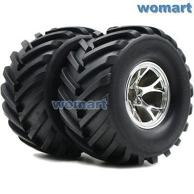 2pcs 2.2 Badland Monster Big foot Tires W/ 2.2'' Wheels For Tamiya Traxxas Truck