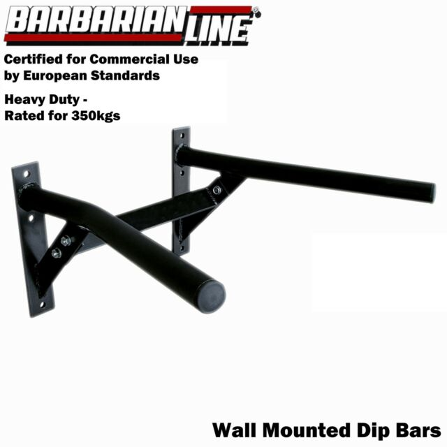BARBARIAN Wall Mounted Commercial Dip Bars BB-9017 Station Home Gym