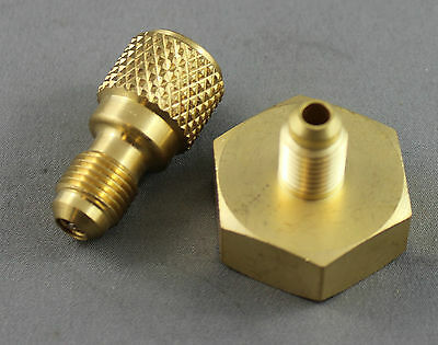 """1//4/"""" BSP  to 3//4 BSP/"""" BRASS ADAPTER  FOR REFRIGERANT GAS TANKS WITH  O RING"""