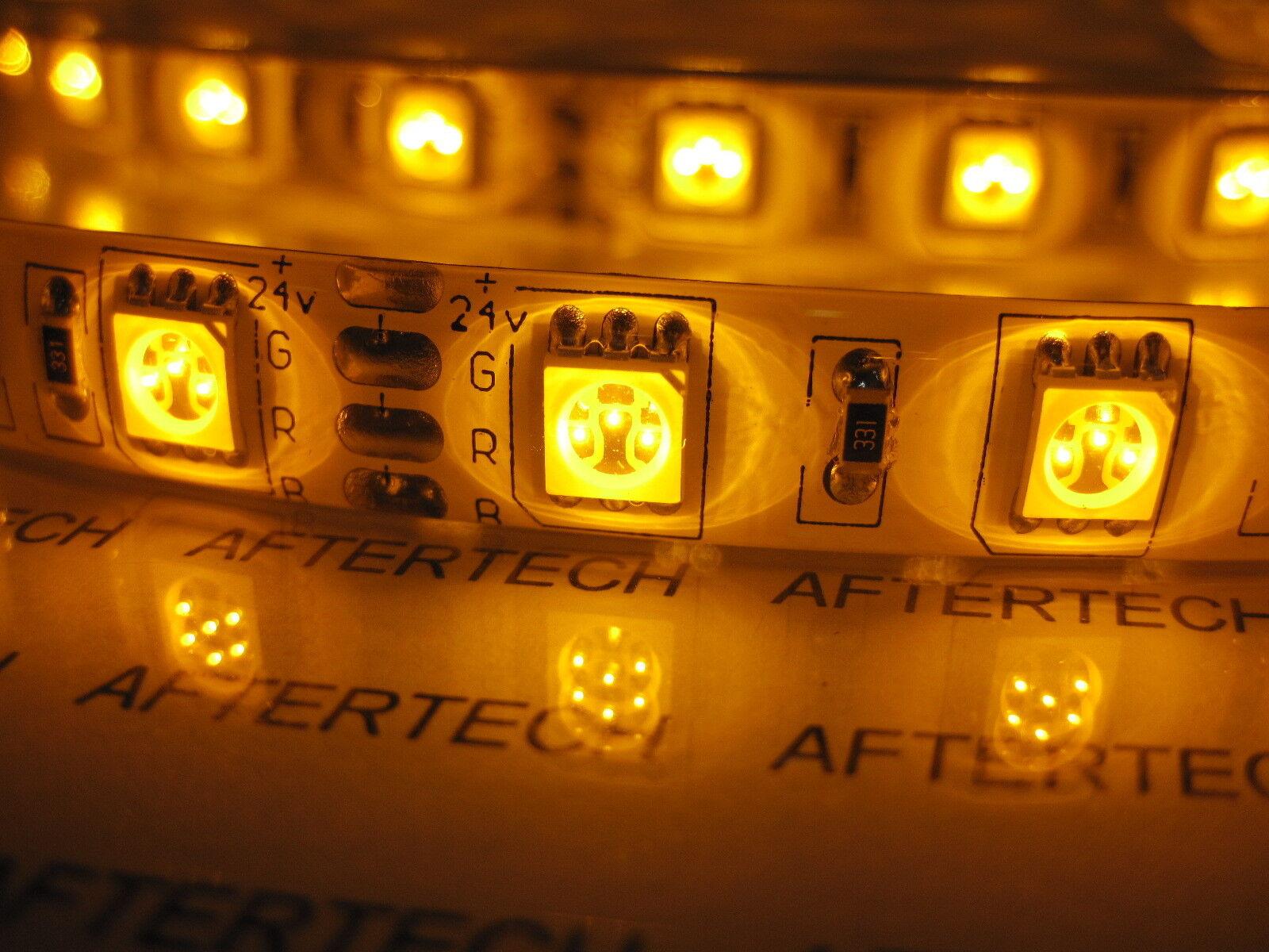 72w 24v 24volt 5m smd5050 ARANCIONE Gelb IMPERMEABILE LED STRIP STRISCIA C5C2