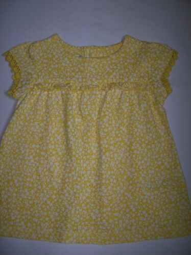 BNWOT Baby Girls Ex Marks /& Spencer Yellow Ditsy Floral Jersey Dress Ages 0-9