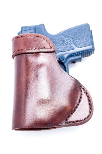 Kahr PM9 w// Crimson Trace laserFull Grain Leather IWB Conceal Carry Holster
