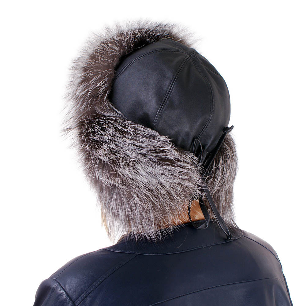 Uschanka aus Silberfuchs Fell Mütze Pelz Silber Fuchs Fuchs Fuchs Pelzmütze Fliegermütze FOX | König der Quantität  | Authentische Garantie  | Modernes Design  f1a280