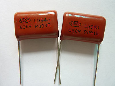US Stock 10pc CBB CBB22 Metallized Film Capacitor 0.39uf 390nf 0.39mfd 394J 630V