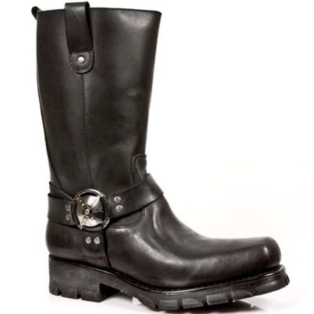 New Rock Stiefel Unisex Punk Gothic Stiefel - Style 7610 S1 Schwarz   | München Online Shop