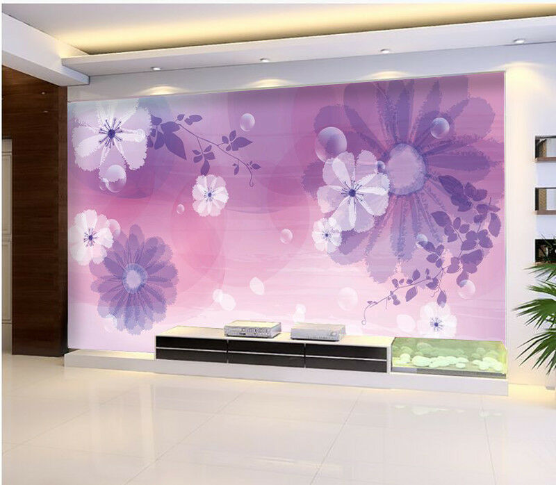 3D lila Flowers 734 Wallpaper Mural Paper Wall Print Wallpaper Murals UK