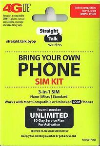 Straight-Talk-Nano-Micro-Standard-SIM-Card-for-AT-amp-T-Tower-GSM-Network-Triple-Cut