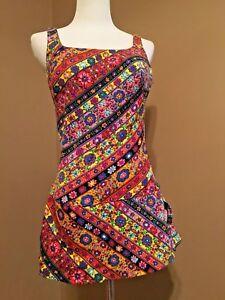 101ec73f883c4 Vintage Rose Marie Reid one piece Bathing Suit swim dress Nylon Size ...