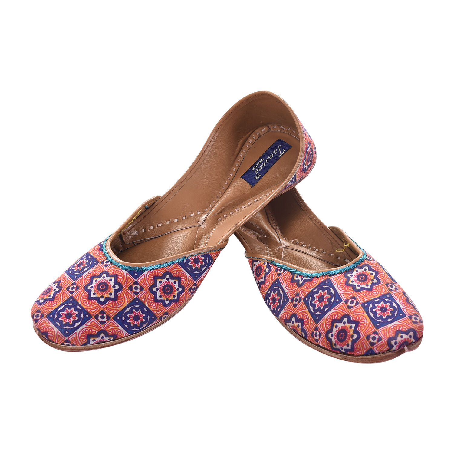 Indian Handcrafted Women Rajsthani Leather Mojari In Mutli Color For Women Handcrafted US Size 7 7f6619