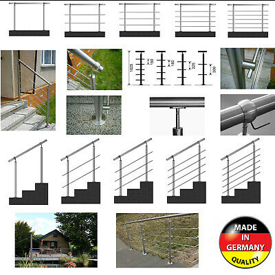 Edelstahl Handlauf Geländer Wandhalter Treppenhandlauf Brüstung Bausatz Ø42mm DE