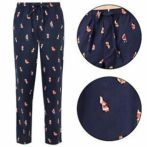 I Sleigh Santa Christmas Novelty Adult Men/'s Pajama Bottom Pants Size L or XL