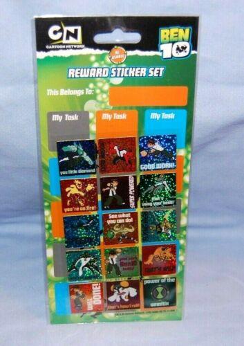 Ben 10 Reward Sticker Set Re-Usable NEW