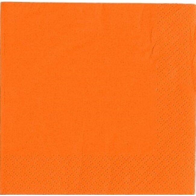 2000 x Orange Paper Napkins 2 Ply 33cm 4 Fold Tissue Serviettes