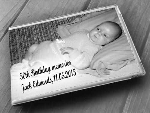 "Personalised guestbook photo album 36 x 6x4/"" 50th Birthday memory gift"
