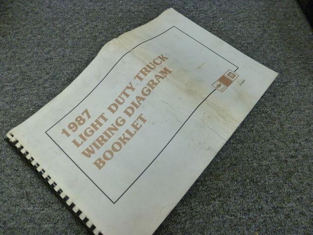 1987 Chevy Suburban Suv Electrical Wiring Diagram Manual R10 R20 V10 V20 4wd