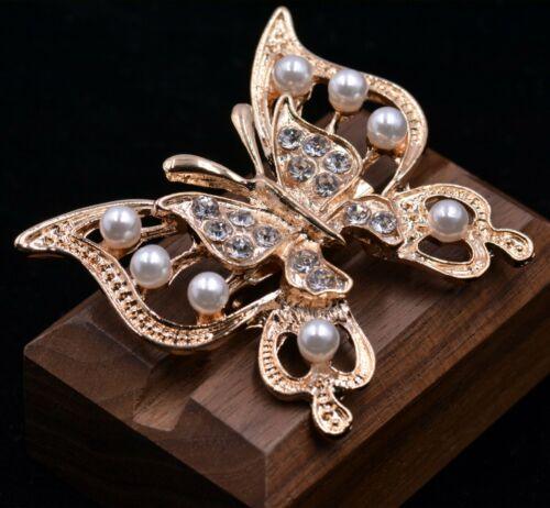 Beautiful Butterfly Brooch Pin Gold and Silver