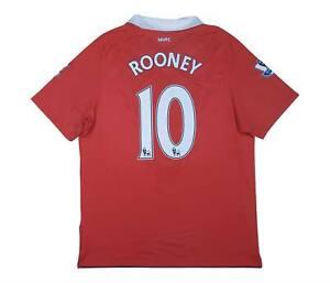 Manchester United 2010-11 Authentic Maglietta Rooney #10 (eccellente) L