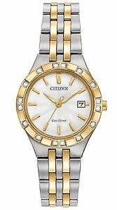 Citizen-Eco-Drive-Women-039-s-Diamond-Accents-Two-Tone-27mm-Watch-EW2334-51A