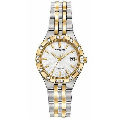 Citizen Eco-Drive Women's EW2334-51A Diamond Collection Two Tone Dress Watch