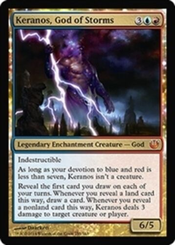 Keranos, God of Storms x4 PL Magic the Gathering 4x Journey into Nyx mtg card lo