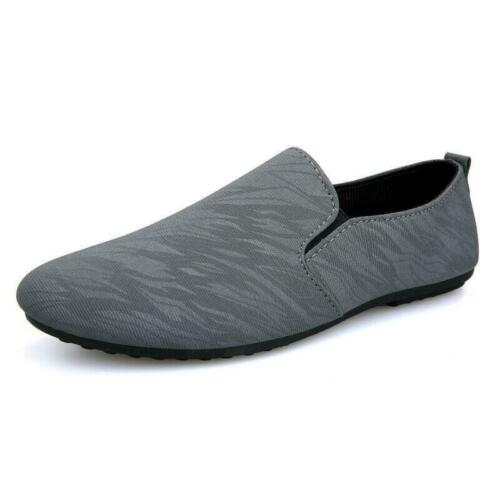 Mens Driving Moccasins Shoes Round Toe Loafers Slip Comfortable Casual Flats