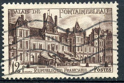 Timbre France Oblitere N° 878 Chateau De Fontainebleau Relieving Heat And Thirst. Stamps Topical Stamps Stamp