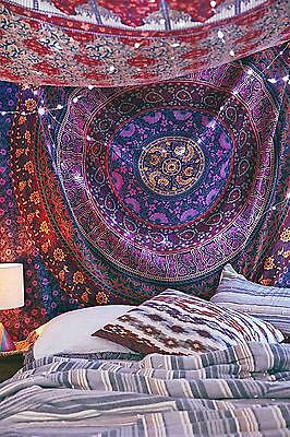 Indian Wall Hanging Hippie Mandala Tapestry Bohemian Bedspread Ethnic Dorm Decor