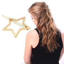 Metall Haarspange Damen Mädchen Haar Organisator Haarklammer Gold Stern Design