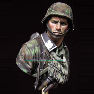 NEW-1-10-Unpainted-Soldier-Bust-Model-Resin-Unassembled-Garage-Kit-Figure-Statue