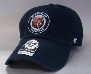 save off 05974 03214 Image is loading Detroit-Tigers-47-Brand-Clean-Up-Hat-Cap-