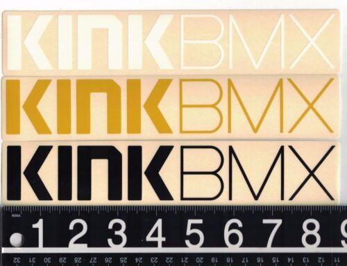 KINK BMX DECAL Kink BMX 8.75 in x 1.75 in Black//White//Gold Cycling Bike Sticker