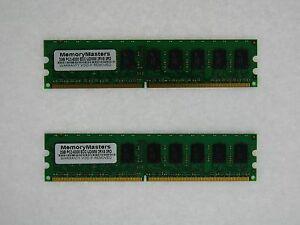 ECC-RAM-4GB-2x-2GB-FITS-Dell-Poweredge-830-840-850-860-PC2-5300E-DDR2-667-Memory