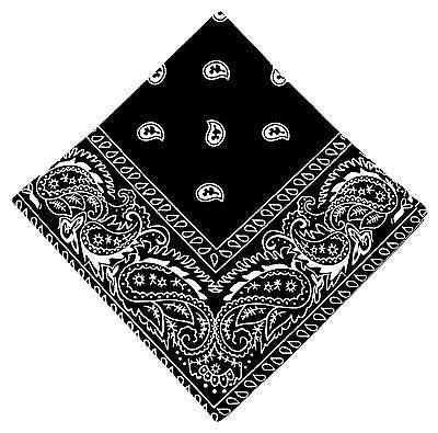 Neu 50x50cm Bandana Schwarz Paisley Muster 100%baumwolle Halstuch Biker Kopftuch Krankheiten Zu Verhindern Und Zu Heilen