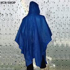 Regencape Regenumhang Regenschutz-Regenponcho mit Kapuze blau